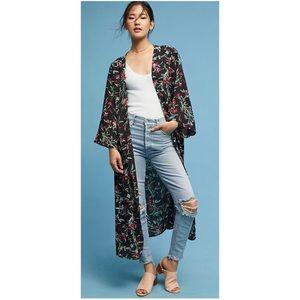Anthropologie Floreat Floral Kimono